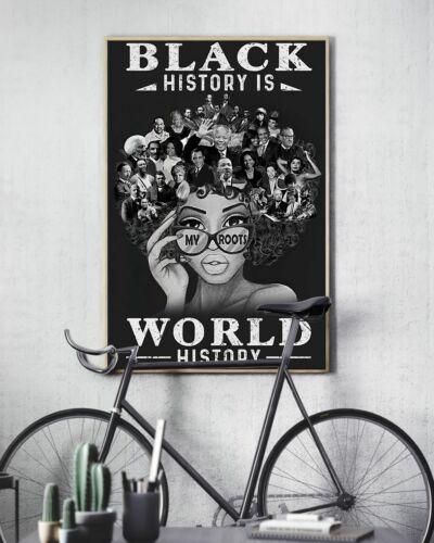 Black Girl Black History Is World History Home Wall Art Decor Poster No Frame