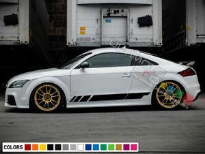 Sticker Decal Vinyl Side Door Stripes for Audi TT RS Racing Bumper Fender Light
