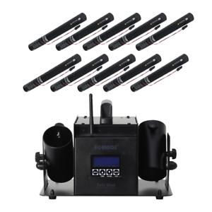 Equinox Twin FX Shot Confetti Cannon Wireless Remote DMX Control Electric Bundle