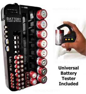 Image Is Loading Battery Storage Organizer  Holder Caddy Plastic Rack INCLUDES