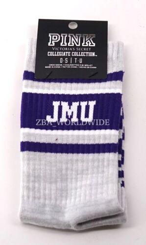 Victoria/'s Secret PINK Collegiate James Madison University Grey Purple Crew Sock