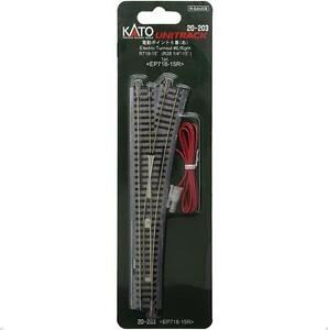 Kato-20-203-Aiguillage-Droite-Electric-Turnout-6-Right-R718mm-15-N