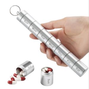 Pillendose im Schlüsselanhänger, Anhänger Tablettendose wasserdicht, Geheimfach