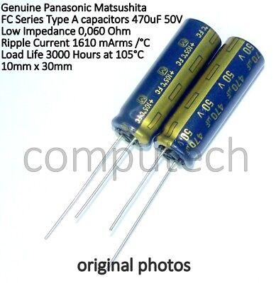1 pezzo Condensatore elettrolitico 470uF 50V 105°C Panasonic FC Low impedance