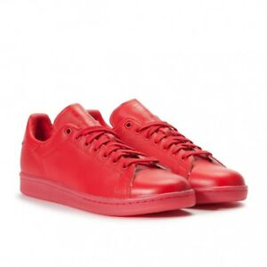 Stan-Smith-Adidas-Adicolor-rouge-ecarlate-Baskets-Baskets-Taille-10-UK-Rare