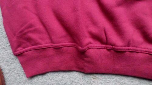 Herren Shirt Sweatshirt Pullover angeraut Tasche langer Arm Weinrot Gr M NEU