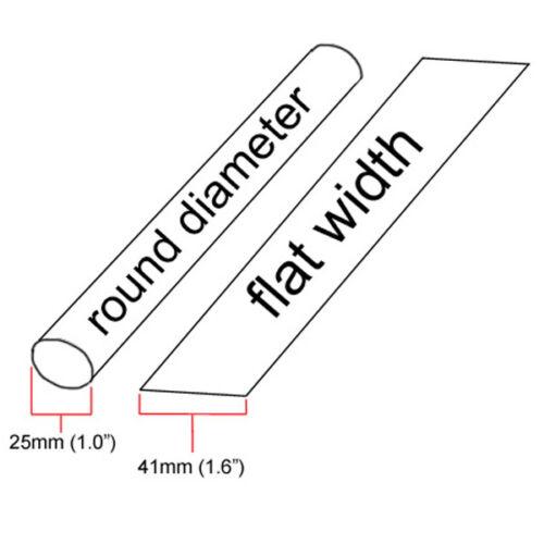 """Pouces//Pieds//pour 25 mm 10 ft 1.0/"""" ID bleu Heat Shrink Tubing 2:1 Ratio 1/"""" Wrap"""
