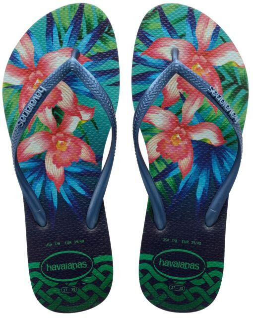 Havaianas Donna Infradito Slim Tropicale Verde Menta UK 4 5 (bra 37 ... ce2dbb8ae1b