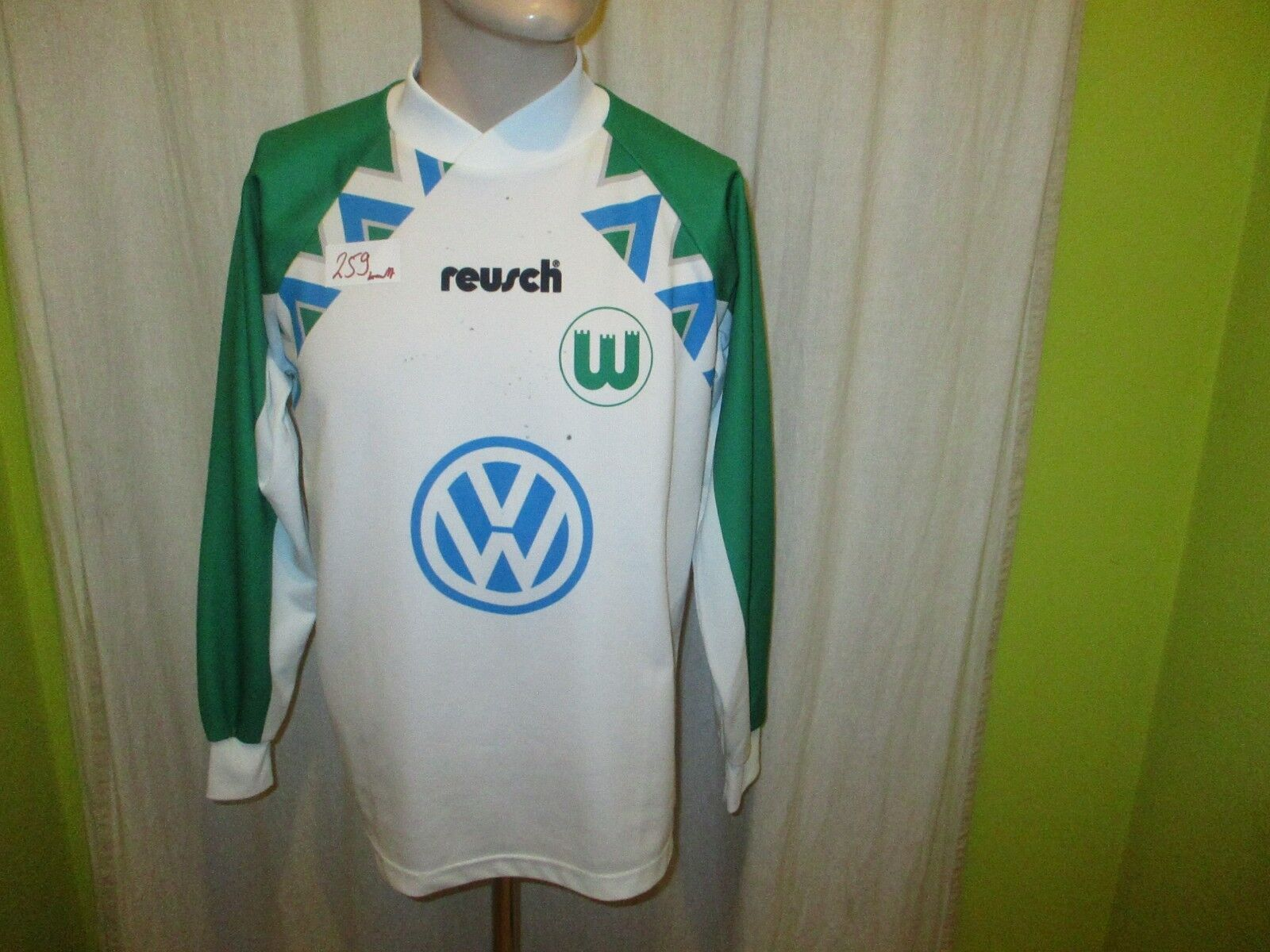 VfL Wolfsburg reusch Langarm Heim Trikot Trikot Trikot 1994 95  VW  + Signiert Gr.S- M  | Niedrige Kosten  5332c7