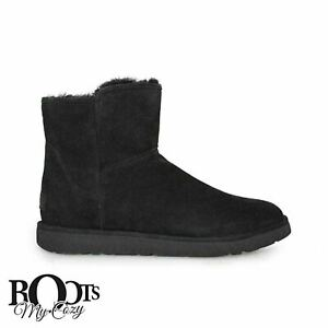 6dc27fae366 Details about UGG ABREE MINI NERO SUEDE/SHEEPSKIN WOMENS BOOTS SIZE US  10/UK 8.5/EU 41 NEW