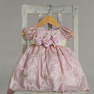 Dressy-Holiday-Embroidered-Pastel-Pink-Boutique-Infant-Flower-Girl-Pageant-Dress