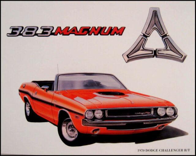 1970 Dodge Challenger R/T Conv. Art Print Lithograph