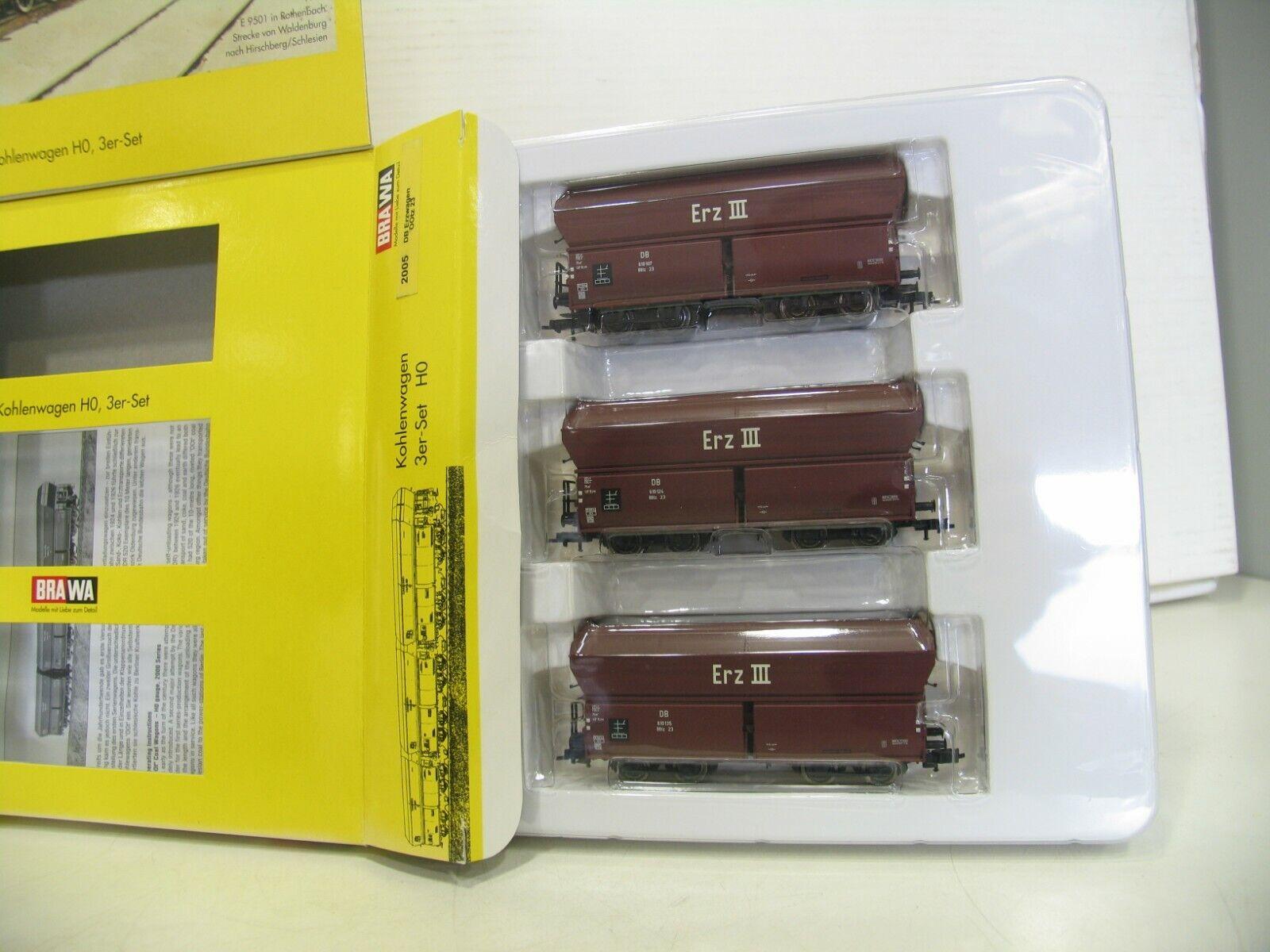 Brawa 2005 Set Coal Wagon Ore III DB DO231