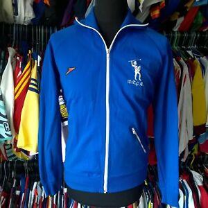 MCPE-Track-Top-Maglietta-da-calcio-1980S-vintage-made-in-Gran-Bretagna-Speedo-Taglia-Adulto-M