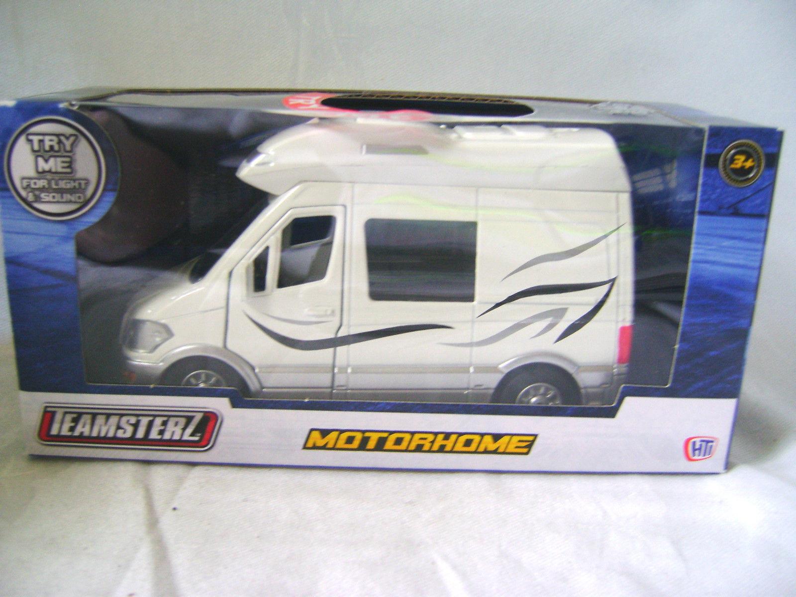 Neu Teamsters white Wohnmobil Camper Van Anhänger mit Lichter und 01T3