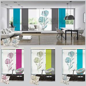 Strichblume-Schiebevorhang-Flaechenvorhang-Schiebegardine-Raumteiler-Emotion