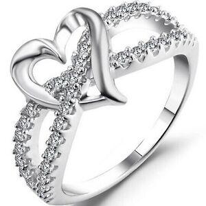 Size-3-12-White-Gold-Silver-Wedding-Engagement-Ring-Split-Shank-Eternity-Heart
