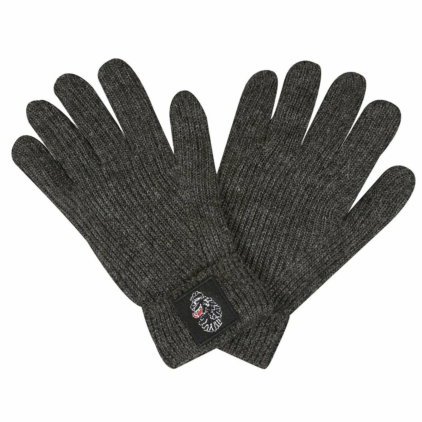 Luke 1977 Milo Knitted Logo Charcoal Grey Gloves M621203