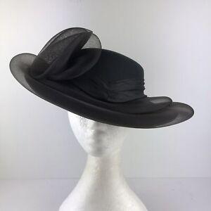 C&A Vintage Black Hat With Mesh (1030)