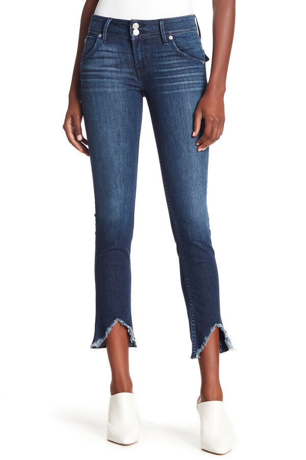 NWT HUDSON Collin Flap Skinny Ankle Raw Hem Jeans Size 30 Dark Summer 28  Inseam
