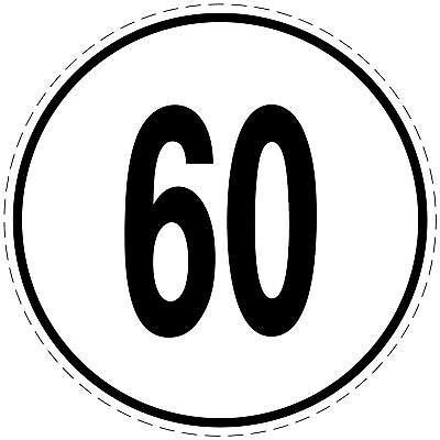 60 Kmh 20cm Nach § 58stvzo Geschwindigkeitsaufkleber To Help Digest Greasy Food Intelligent Geschwindigkeitsschild