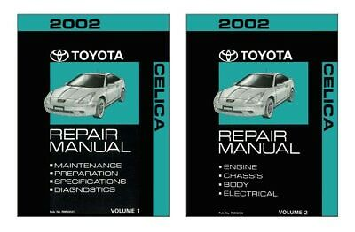 2002 toyota celica shop service repair manual book engine drivetrain rh ebay com 2002 Toyota Celica Manual 2002 Celica Rims