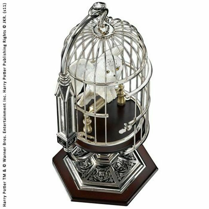 Harry Potter Hedwig In Cage Miniature Statue NOBLE COLLECTIONS