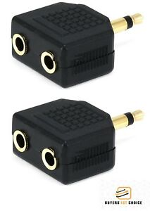 2x-Mono-3-5mm-1-Male-Plug-to-2-Stereo-Female-Jack-Audio-Y-Splitter-Cable-Adapter