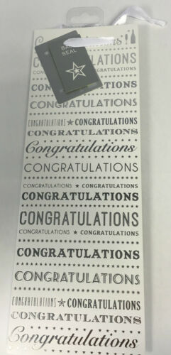 Any Occasion White /& Silver Congratulations Bottle Gift Bag 31cm x 12.5cm x 9cm