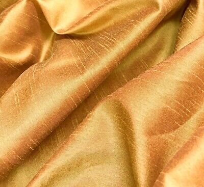 Orange FAUX SILK Polyester Fabric material 150cm sold by the metre