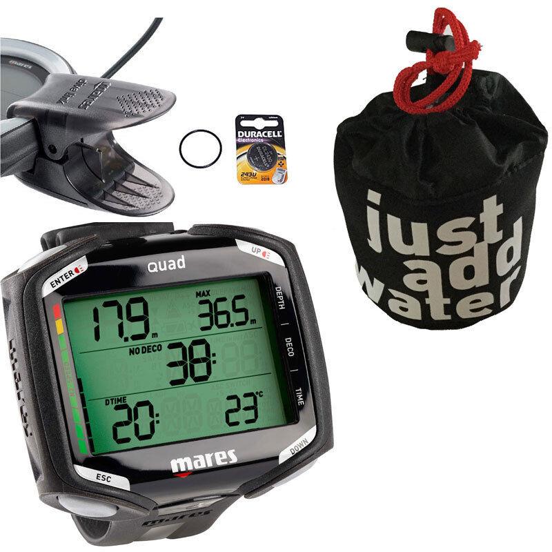 Mares schwarz Quad + Tasche + USB-Interface-Kabel + Batterie-Kit in schwarz Mares - Neuware 96922f