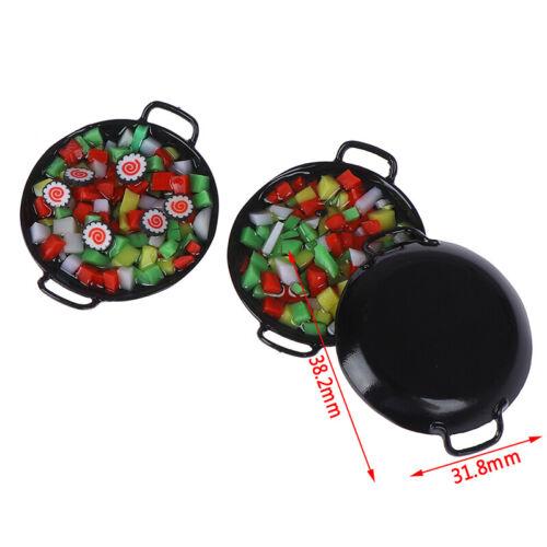 1:12 dollhouse miniature Mini wok meal sushi vegetables candy food toy RanPLUS
