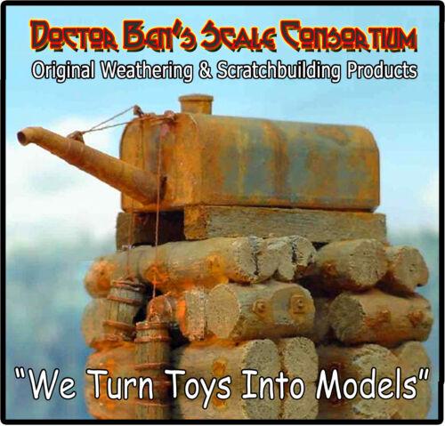 Garbage//Trash Cans-Steel NOS Sequoia Scale Models HO//HOn3//HOn30 //FSM 3pcs