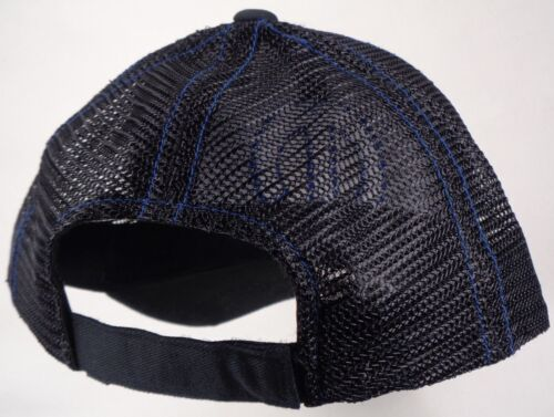 Hat Cap Licensed Mopar M Logo Black Mesh Blue Accent CF