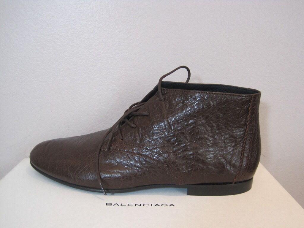 Balenciaga braun Leather Oxford Stiefel Stiefelies schuhe  665 39.5 39.5 39.5 9.5 d0d7b1