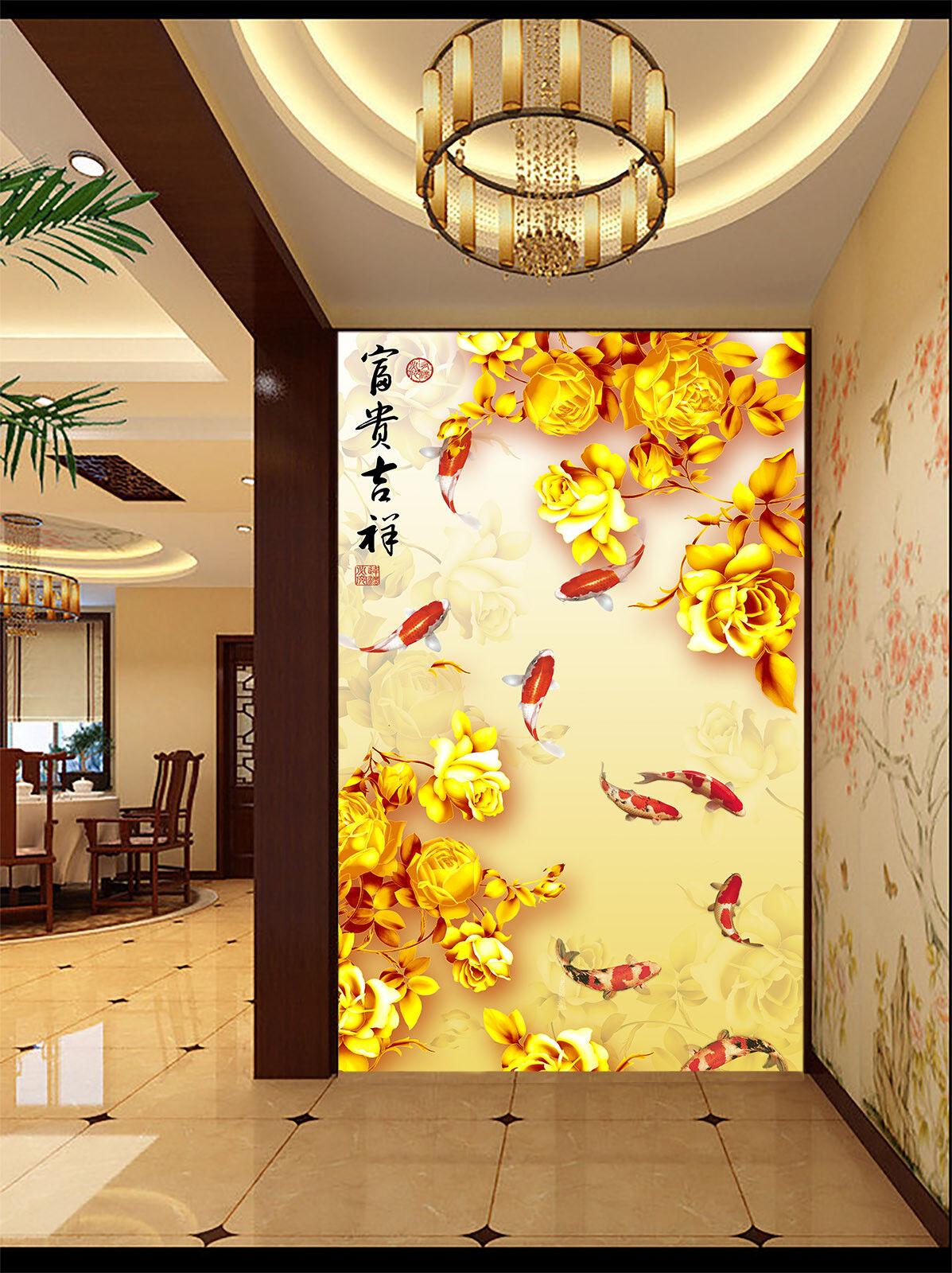 3D Goldene Rosa Roter Roter Roter Koi 77 Tapete Wandgemälde Tapete Tapeten Bild Familie DE | Genial  | Stilvoll und lustig  | Ausgezeichnet (in) Qualität  8794b6