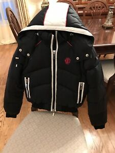 Just-Cavalli-by-Roberto-Cavalli-Black-Down-Hooded-Bomber-Puffy-Jacket-NWT-900