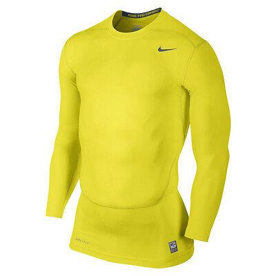 Nike Pro Core Compression 2.0 Shirt II NEW grey yellow 449794-700