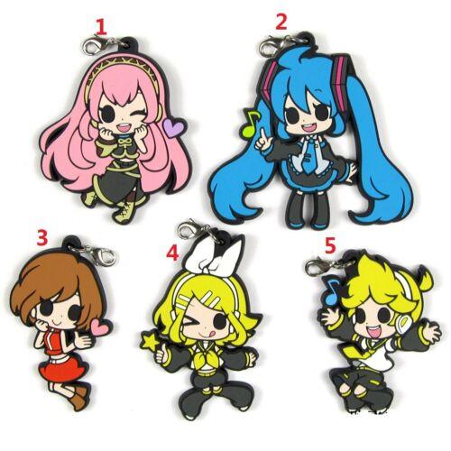 Vocaloid Hatsune Miku Zakura KAITO Kagamine Rin Ren Rubber Strap Charm Keychain