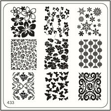 MoYou Nail Fashion Square Stamping Image Plate 433 Glam Style