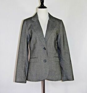 Details about H\u0026M Suit Jacket, Size 8, Medium. Two Button with elbow patches