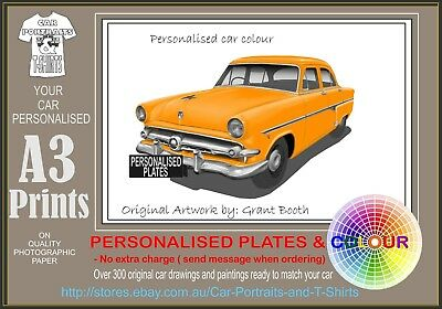 """1954 FORD CUSTOMLINE V8 AD PRINT WALL POSTER PICTURE 33.1""""x23.4"""""""