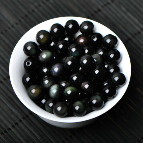 30-60MM+stand Natural Black Obsidian Sphere Large Crystal Ball Healing Stone