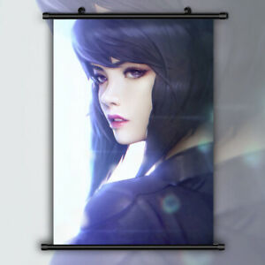 Ghost-in-the-Shell-Motoko-Kusanagi-Anime-HD-Print-Wall-Poster-Scroll-Home-Decor