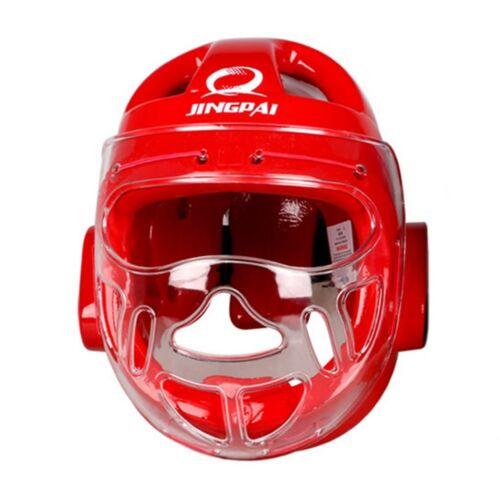 Taekwondo Helmet Head Guard Protective Gear red S