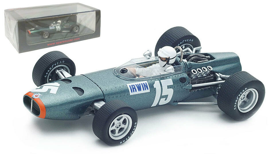 Spark S4795 BRM P261 British GP 1967 - Chris Irwin 1 43 Scale