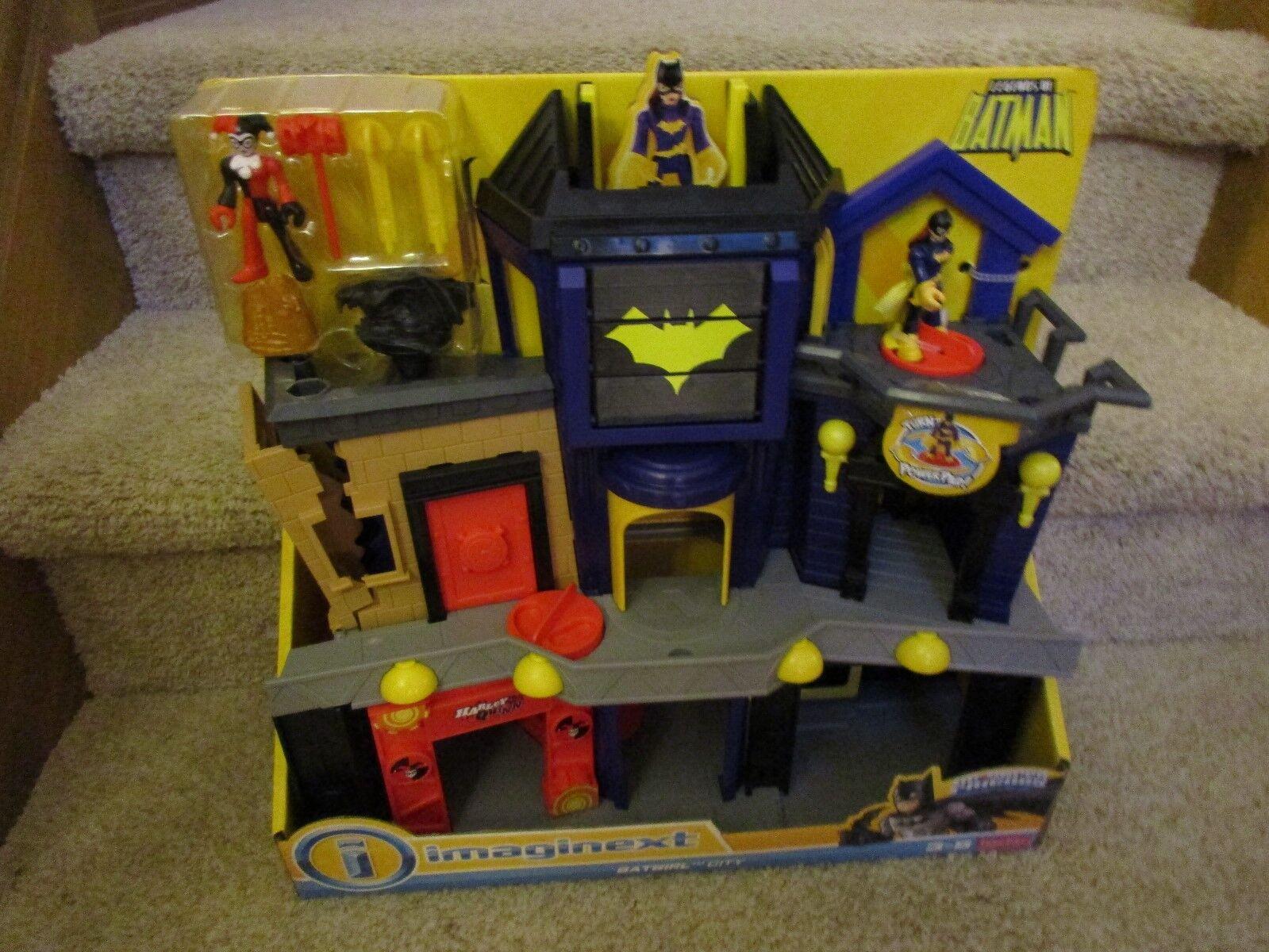 Fisher Price imaginext DC Super vänner läderlappen Gotham City Batgirl Harley Quinn