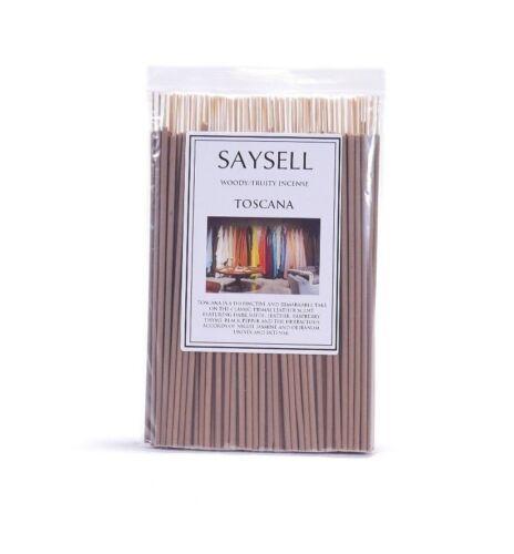 "Toscana Woody 8/"" Incense Joss Sticks Agarbatti Long Burning x 100  by Saysell"