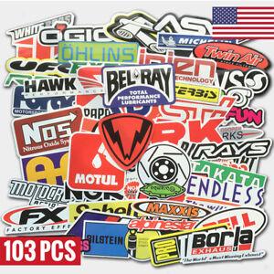 103Pcs-Auto-Car-Parts-NHRA-Drag-Racing-Vinyl-Graphics-Stickers-Bomb-Decals-Pack