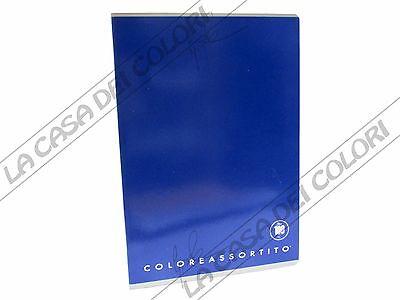 Coloreassortito - Blu - Quaderno A4 - Rigo Q (0q Quadretti 5 Mm E Margine) Chiaro E Distintivo